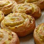 Garlic and vegan cheese swirls
