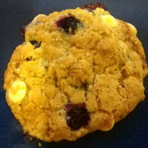 Blueberry and white chocolate cookie