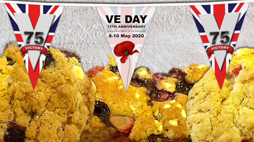VE Day Celebrations cake and cookies